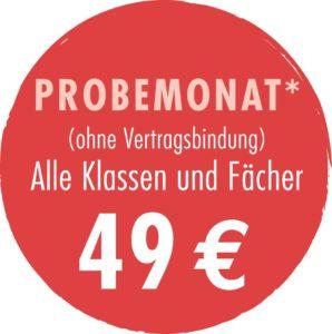 Probemonat Nachhilfe back2school Grevenbroich