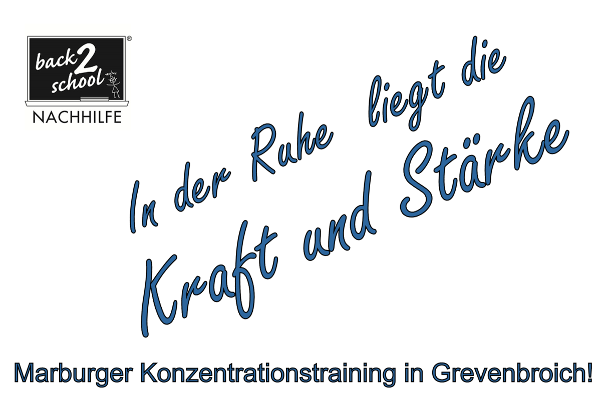 Marburger Konzentrationstraining in Grevenbroich
